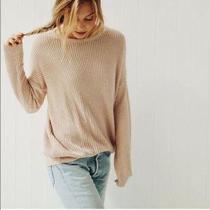 Brandy Melville Cream Leia Sweater EUC